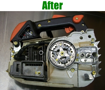 Chainsaws fully reconditioned, certified, and guaranteed for 6-months! A fraction of the cost of buying new.